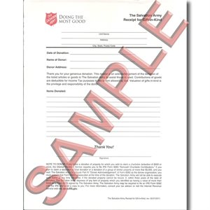 Forms paperwork ct 16 receipt donated goods 2011 version altavistaventures Images