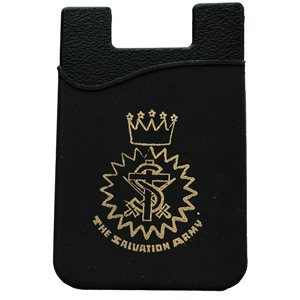 Cell phone wallet w / crest (adhesive)