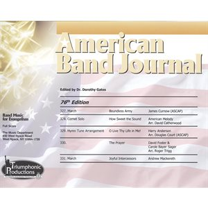 American Band Journal 76 (327-331) Spring 2016