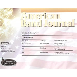 American Band Journal 78 (336-339) Spring 2017