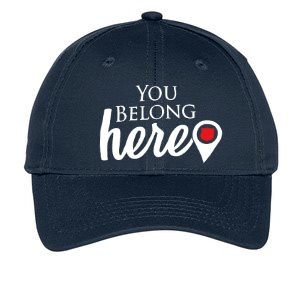 "Youth Navy Blue ""You Belong Here"" Adjustable Cap"
