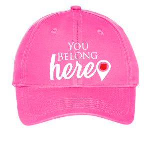 "Youth Pink ""You Belong Here"" Adjustable Cap"