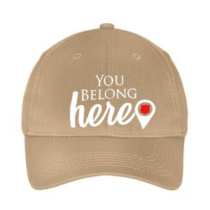 "Youth Beige ""You Belong Here"" Adjustable Cap"