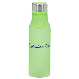 Lime Green Water Bottle with The Salvation Army Print