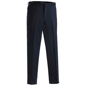Men's Wash & Wear Trousers - Navy Blue