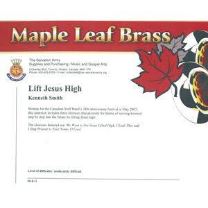 MAPLE LEAF BRASS #12 LIFT JESUS HIGH