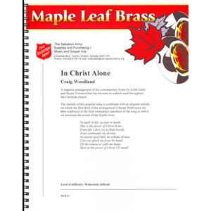 MAPLE LEAF BRASS #23 IN CHRIST ALONE