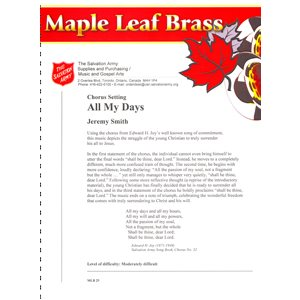 MAPLE LEAF BRASS #25 ALL MY DAYS