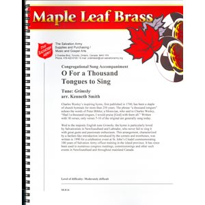 MAPLE LEAF BRASS #26 FOR A THOUSAND TONGUES