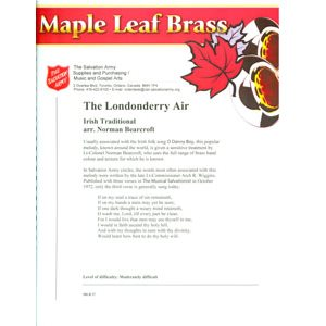 MAPLE LEAF BRASS #27 LONDONERRY AIR