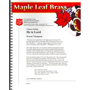 MAPLE LEAF BRASS #29 HE IS LORD