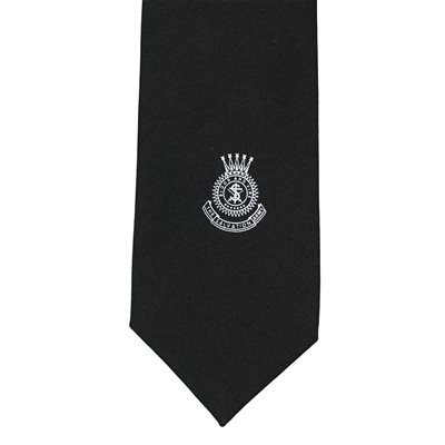 Navy Blue Tie with White Crest