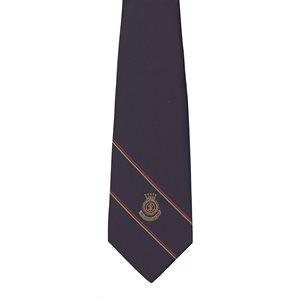 Navy Blue Clip-on Tie with Crest