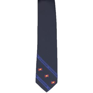 Navy Blue Cip-on Tie with The Salvation Army Bands & Flags