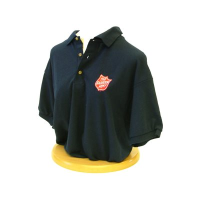 POLO SHIRT W /  SHIELD BLUE  /  SMALL