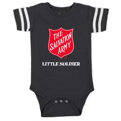 "Boys Onesie ""Little Soldier"" (Charcoal Grey)"