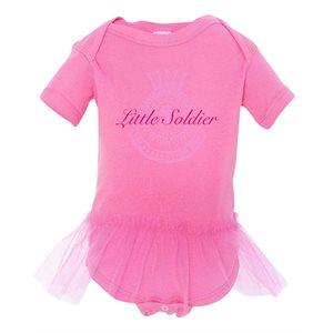 Onesie Girl  Little Soldier (pink) 6 month