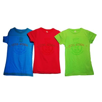 Girls Little Soldier Aqua Youth Tee