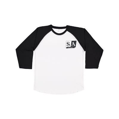 Mens SA White / Blk Sleeve Jersey