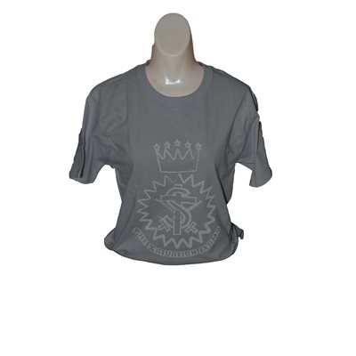 Light Steel Tee w / Crest Small Discontinued