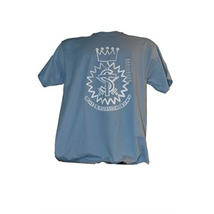Stonewashed Blue Tee w / Crest 3XL