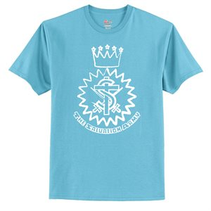 Blue Horizon T-Shirt with Crest Graphic