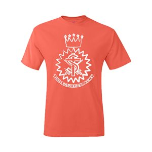 Coral T-Shirt With Crest