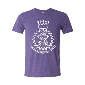 Heather Purple T-shirt with Crest