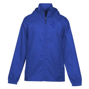 Ladies Royal Blue Rain Jacket with The Salvation Army