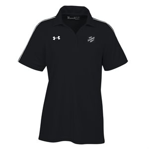 UA Ladies Tech Polo Black w / TSA
