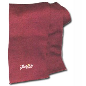 Scarf Acrylic Maroon with The Salvation Army