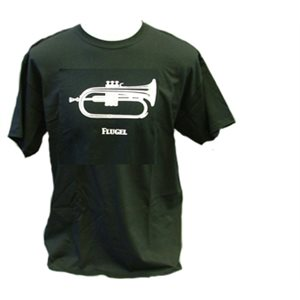 T SHIRT BLK  FLUGEL HORN 2XL