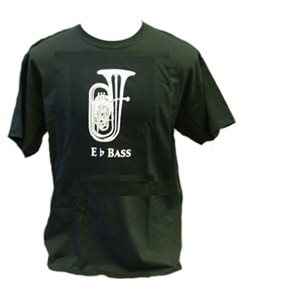 T SHIRT BLK Eb BASS 2XL