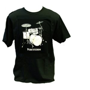 T SHIRT BLK PERCUSSION LG