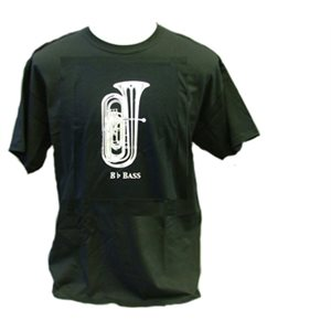 T SHIRT BLK Bb BASS SM