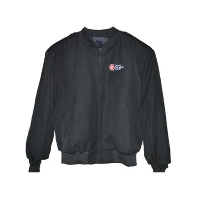 MENS BLACK BOMBER JACKET w / DTMG