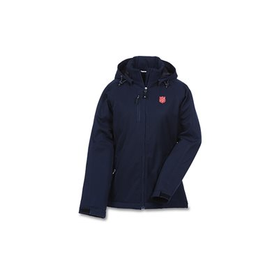 Ladies Insulated Winter Coat With Shield Patch
