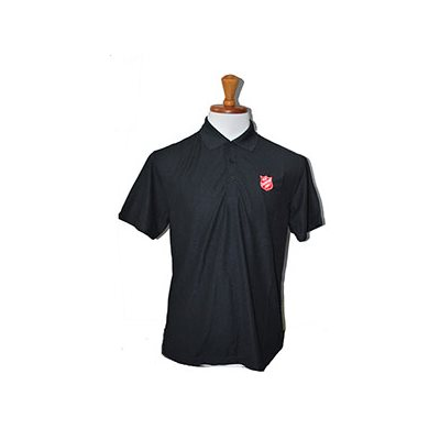 POLO BLACK W SHIELD MENS