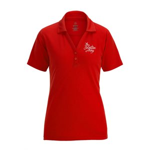 Ladies Red Polo Shirt with The Salvation Army Embroidery