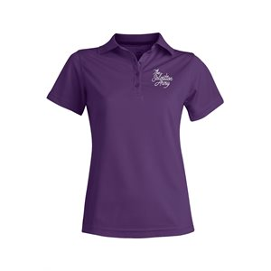 Ladies Purple Polo with Embroidered The Salvation Army