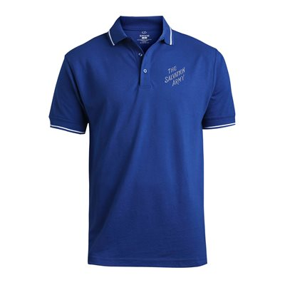 Royal Blue Polo Shirt With The Salvation Army Embroidery