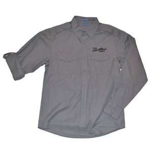 Men's Two Pocket Roll Sleeve Shirt (Steel Grey) with The Salvation Army