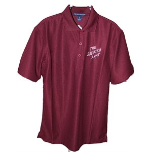 Polo Maroon with The Salvation Army Mens