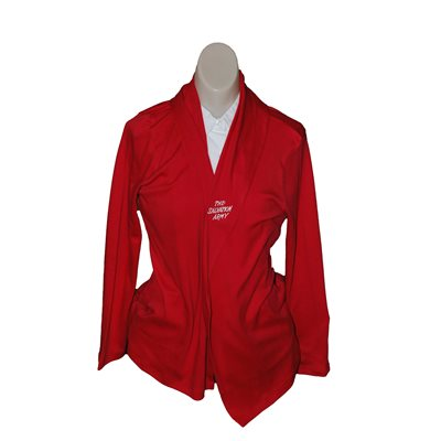 Supima Cotton Red Cardigan Wrap w / TSA