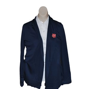 Supima Cotton Navy Cardigan Wrap w / Shield