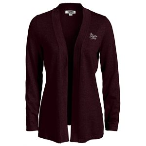 Burgundy Cardigan with The Salvation Army Embroidery
