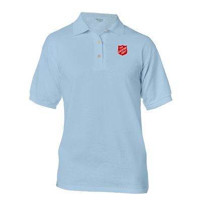 Light Blue Polo Shirt with Shield