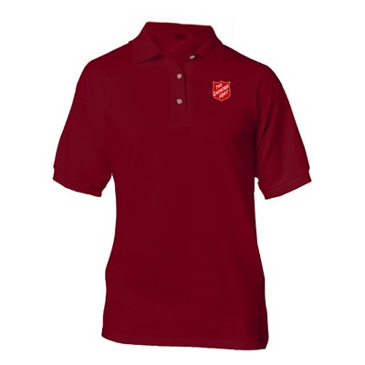 Maroon Polo Shirt with Shield