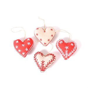 Embroidered Heart Bangladesh (pkg of 4)