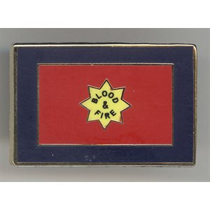 Blood and Fire Flag Pin
